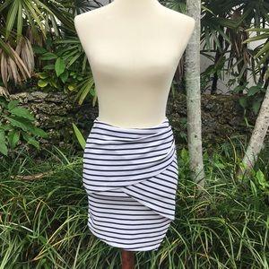 B&W Striped Mini Skirt from LF